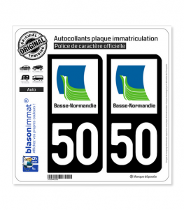50 Basse-Normandie - LogoType | Autocollant plaque immatriculation