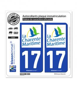 17 Charente-Maritime - Département | Autocollant plaque immatriculation