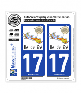 17 Ile de Ré - Aperçu Général | Autocollant plaque immatriculation