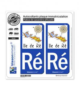 Ré Ile de Ré - Aperçu Général | Autocollant plaque immatriculation