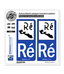 Ré Ile de Ré - Ré | Autocollant plaque immatriculation