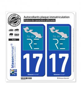 17 Ile de Ré - Tourisme | Autocollant plaque immatriculation