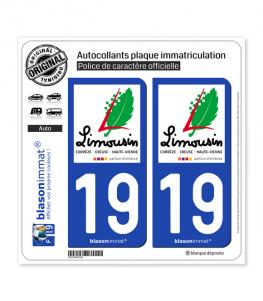 19 Limousin - Tourisme | Autocollant plaque immatriculation