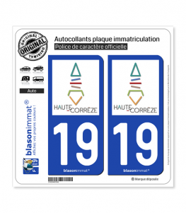 19 Haute-Corrèze - Pays | Autocollant plaque immatriculation