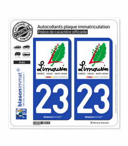 23 Limousin - Tourisme | Autocollant plaque immatriculation