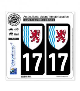 17 Nouvelle-Aquitaine - LogoType | Autocollant plaque immatriculation
