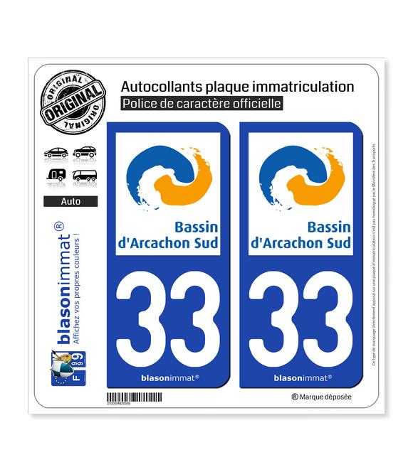 33 Arcachon - Agglo | Autocollant plaque immatriculation
