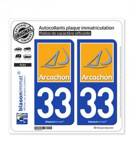 33 Arcachon - Tourisme | Autocollant plaque immatriculation