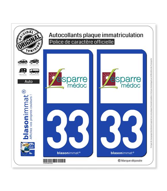 33 Lesparre-Médoc - Ville | Autocollant plaque immatriculation