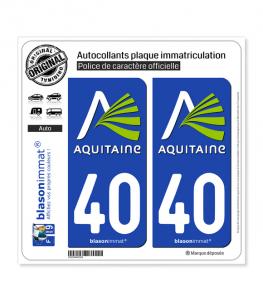 40 Aquitaine - Nostalgie | Autocollant plaque immatriculation