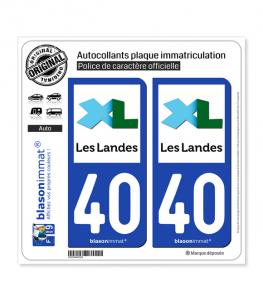 40 Landes - Département | Autocollant plaque immatriculation