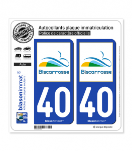 40 Biscarrosse - Ville | Autocollant plaque immatriculation