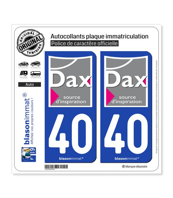 40 Dax - Ville | Autocollant plaque immatriculation