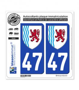 47 Nouvelle-Aquitaine - LogoType | Autocollant plaque immatriculation