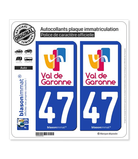 47 Marmande - Agglo | Autocollant plaque immatriculation