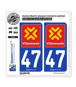 47 Villeneuve-sur-Lot - Agglo | Autocollant plaque immatriculation