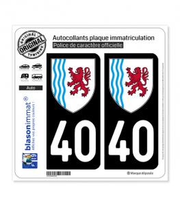 40 Nouvelle-Aquitaine - LogoType   Autocollant plaque immatriculation