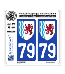 79 Nouvelle-Aquitaine - LogoType | Autocollant plaque immatriculation