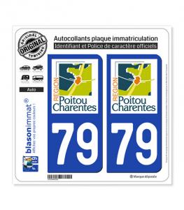 79 Poitou-Charentes - LogoType | Autocollant plaque immatriculation