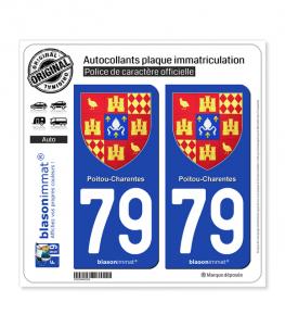 79 Poitou-Charentes - Armoiries II | Autocollant plaque immatriculation