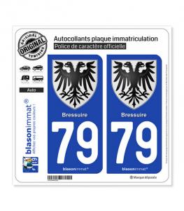 79 Bressuire - Armoiries | Autocollant plaque immatriculation