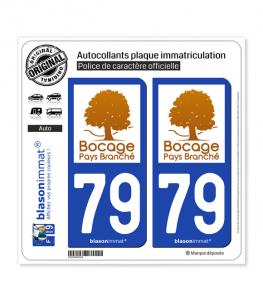 79 Bressuire - Pays | Autocollant plaque immatriculation