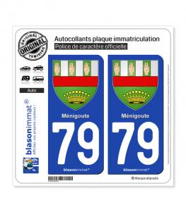 79 Ménigoute - Armoiries | Autocollant plaque immatriculation