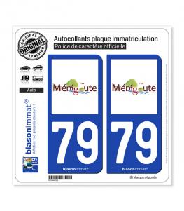 79 Ménigoute - Commune | Autocollant plaque immatriculation