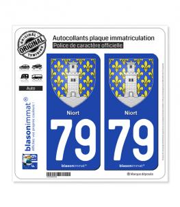79 Niort - Armoiries | Autocollant plaque immatriculation