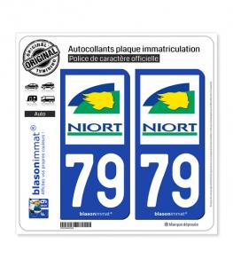 79 Niort - Ville   Autocollant plaque immatriculation