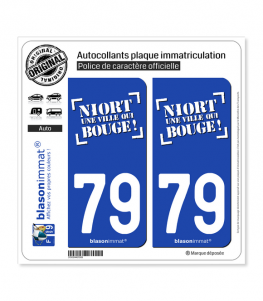 79 Niort - Ville II | Autocollant plaque immatriculation