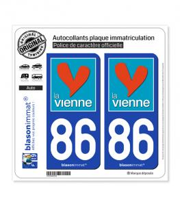 86 Vienne - Département | Autocollant plaque immatriculation