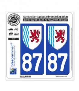87 Nouvelle-Aquitaine - LogoType | Autocollant plaque immatriculation
