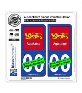 Aquitaine - Cadre | Autocollant plaque immatriculation