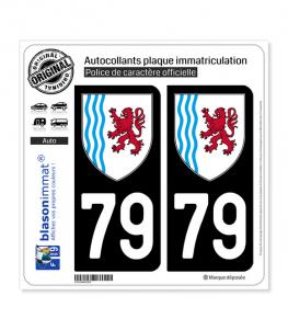 blasonimmat 2 Autocollants Plaque immatriculation Auto 45 Centre-Val de Loire Logotype