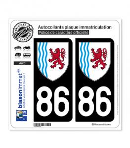86 Nouvelle-Aquitaine - LogoType | Autocollant plaque immatriculation