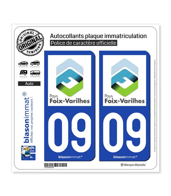 09 Foix - Agglo | Autocollant plaque immatriculation