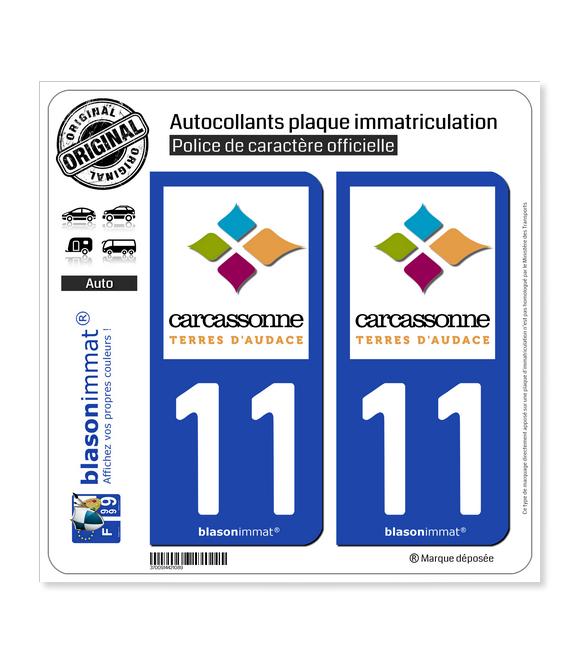 11 Carcassonne - Agglo | Autocollant plaque immatriculation