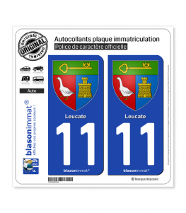 11 Leucate - Armoiries | Autocollant plaque immatriculation