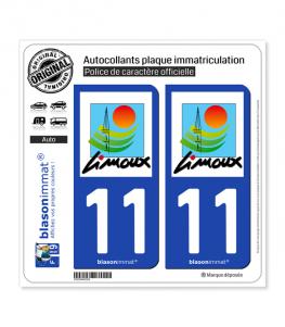 11 Limoux - Ville | Autocollant plaque immatriculation
