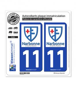 11 Narbonne - Ville | Autocollant plaque immatriculation