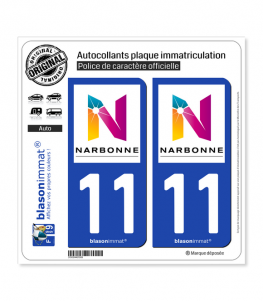 11 Narbonne - Agglo | Autocollant plaque immatriculation