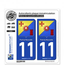 11 Port-la-Nouvelle - Armoiries   Autocollant plaque immatriculation