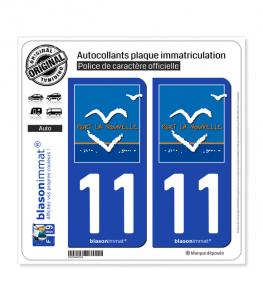 11 Port-la-Nouvelle - Commune   Autocollant plaque immatriculation