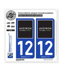 12 Aveyron - Tourisme | Autocollant plaque immatriculation