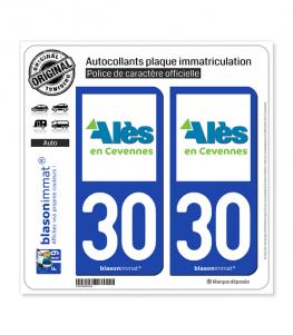 30 Alès - Agglo | Autocollant plaque immatriculation
