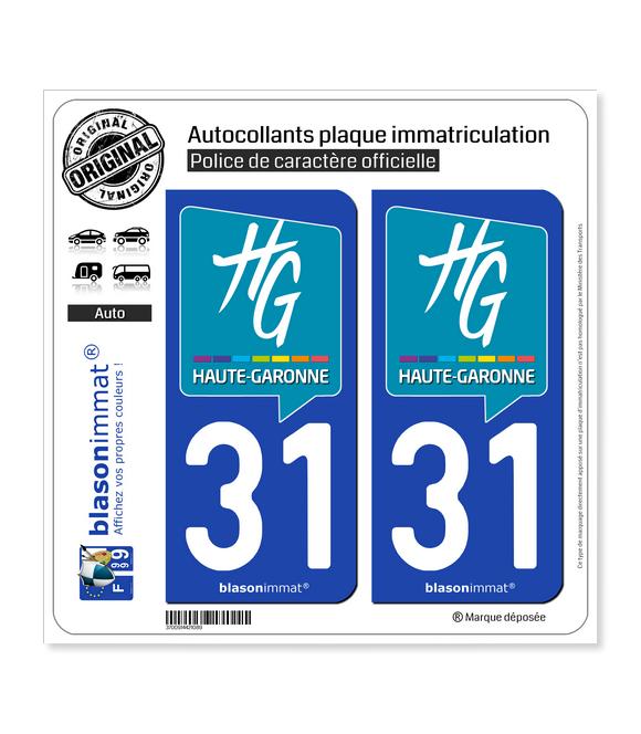 31 Haute-Garonne - Département | Autocollant plaque immatriculation