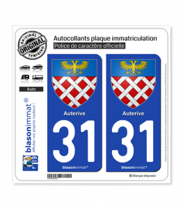 31 Auterive - Armoiries | Autocollant plaque immatriculation