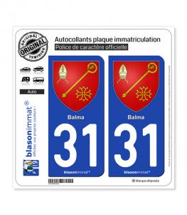 31 Balma - Armoiries | Autocollant plaque immatriculation