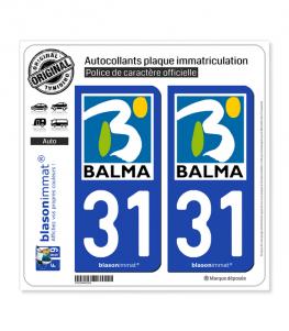 31 Balma - Ville | Autocollant plaque immatriculation